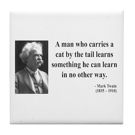 Mark Twain 34 Tile Coaster