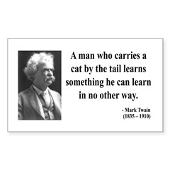 Mark Twain 34 Rectangle Decal