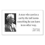 Mark Twain 34 Rectangle Sticker