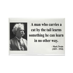 Mark Twain 34 Rectangle Magnet