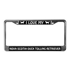 I Love My Nova Scotia... Retriever License Frame