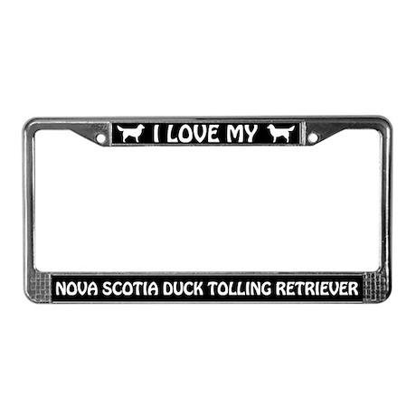 I Love My Nova Scotia... Retriever License Frame
