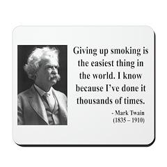Mark Twain 28 Mousepad