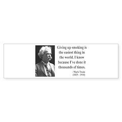 Mark Twain 28 Bumper Bumper Sticker