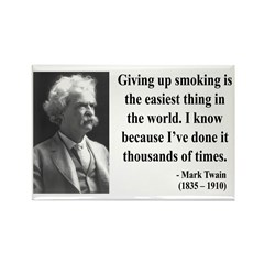 Mark Twain 28 Rectangle Magnet