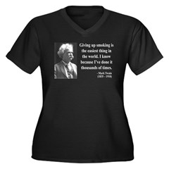 Mark Twain 28 Women's Plus Size V-Neck Dark T-Shir