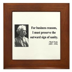 Mark Twain 26 Framed Tile