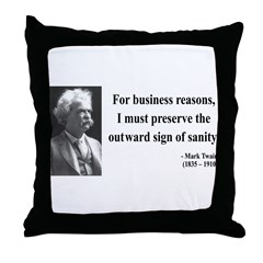 Mark Twain 26 Throw Pillow