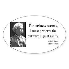 Mark Twain 26 Oval Decal