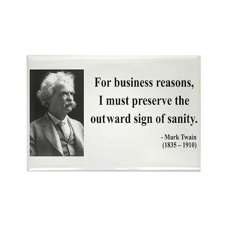 Mark Twain 26 Rectangle Magnet