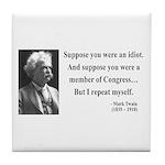 Mark Twain 15 Tile Coaster