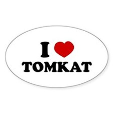 i love tomkat Oval Decal