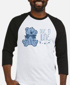 Blue Marbled Teddy Due In June Baseball Jersey