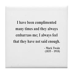 Mark Twain 12 Tile Coaster