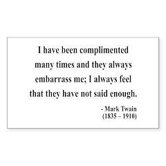 Mark Twain 12 Rectangle Decal