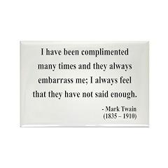 Mark Twain 12 Rectangle Magnet