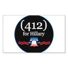 PENNSYLVANIA - (412) for Hill Rectangle Sticker 1