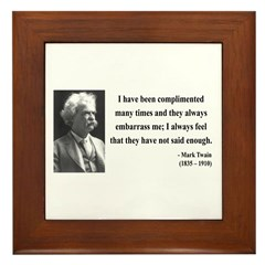 Mark Twain 12 Framed Tile