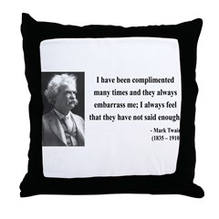 Mark Twain 12 Throw Pillow