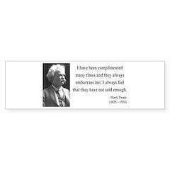 Mark Twain 12 Bumper Bumper Sticker