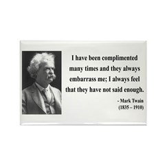 Mark Twain 12 Rectangle Magnet (100 pack)