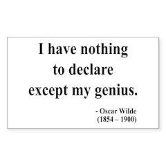 Oscar Wilde 14 Rectangle Decal
