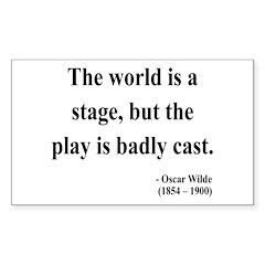 Oscar Wilde 5 Rectangle Decal
