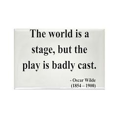 Oscar Wilde 5 Rectangle Magnet (100 pack)