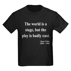 Oscar Wilde 5 Kids Dark T-Shirt