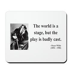 Oscar Wilde 5 Mousepad