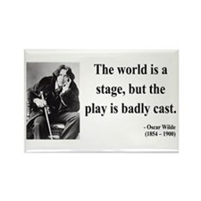 Oscar Wilde 5 Rectangle Magnet