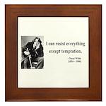 Oscar Wilde 2 Framed Tile