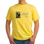 Oscar Wilde 2 Yellow T-Shirt