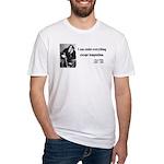 Oscar Wilde 2 Fitted T-Shirt