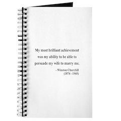 Winston Churchill 15 Journal