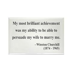 Winston Churchill 15 Rectangle Magnet