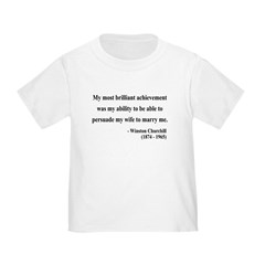 Winston Churchill 15 Toddler T-Shirt