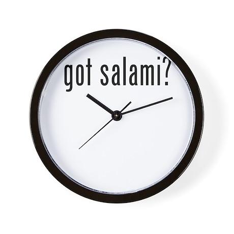 got salami? Wall Clock