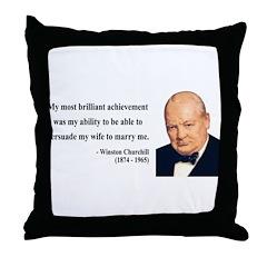 Winston Churchill 15 Throw Pillow