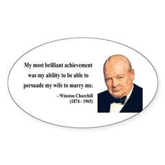 Winston Churchill 15 Oval Decal