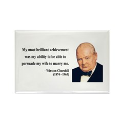 Winston Churchill 15 Rectangle Magnet
