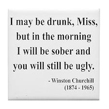Winston Churchill 13 Tile Coaster