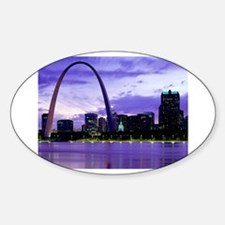 St. Louis Skyline Oval Decal