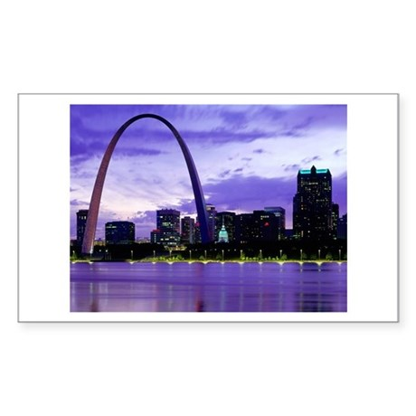 St. Louis Skyline Rectangle Sticker
