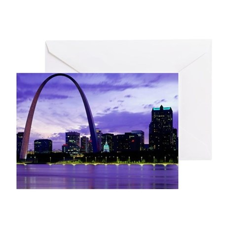 St. Louis Skyline Greeting Cards (Pk of 10)