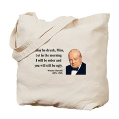 Winston Churchill 13 Tote Bag