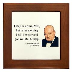 Winston Churchill 13 Framed Tile