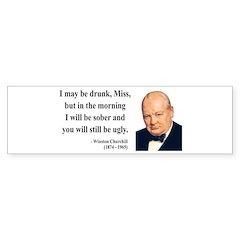 Winston Churchill 13 Bumper Bumper Sticker