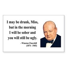 Winston Churchill 13 Rectangle Decal