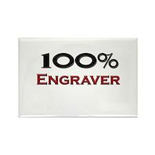 100 Percent Engraver Rectangle Magnet